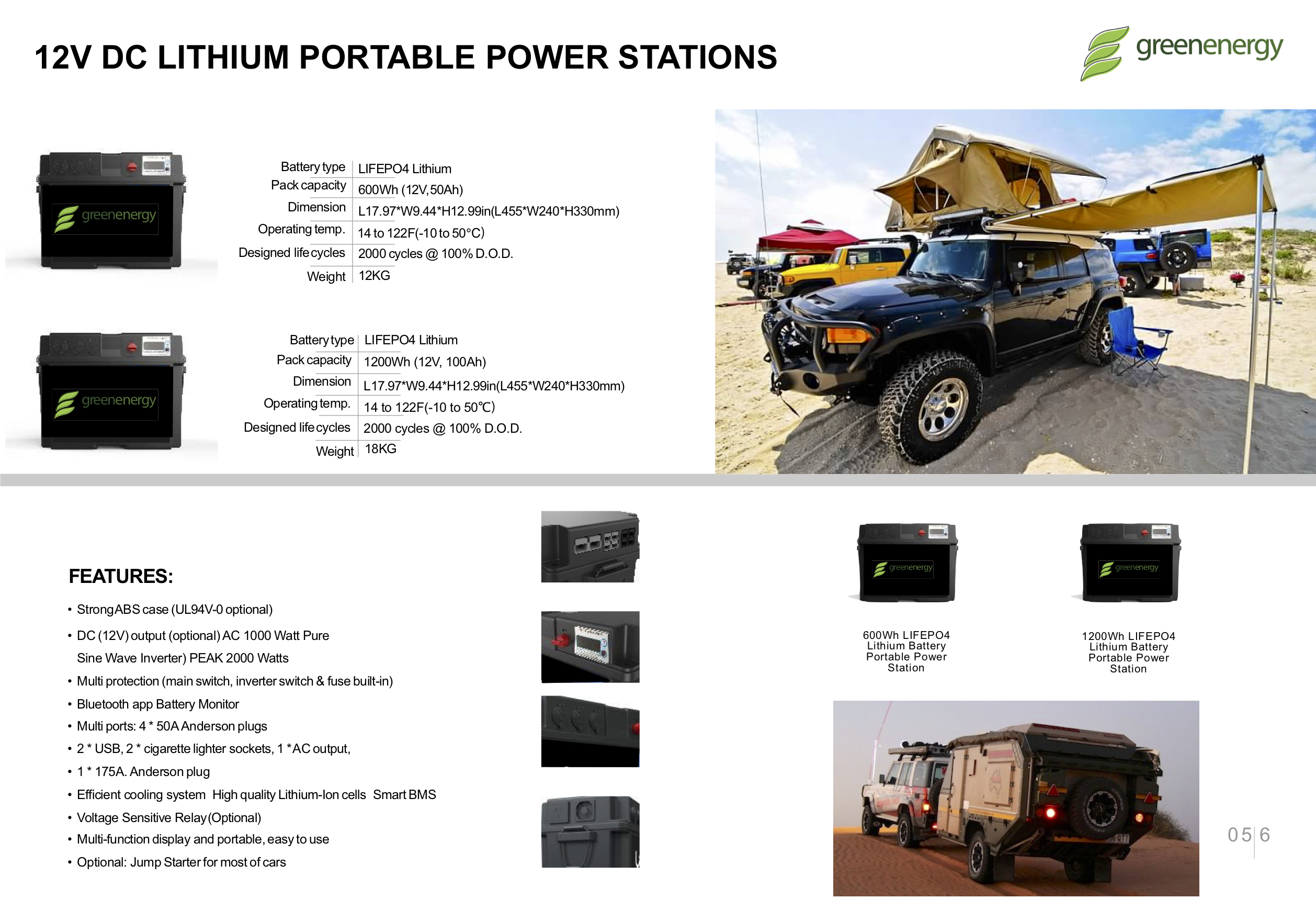 Portable Power Station AC & DC 12v 100Ah Lithium Battery